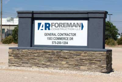 AR Foreman Construction Sign